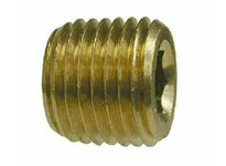 MRO 28093 1/8 BRASS C/S HEX PLUG (Package of 10)