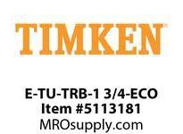 TIMKEN E-TU-TRB-1 3/4-ECO TRB Pillow Block Assembly