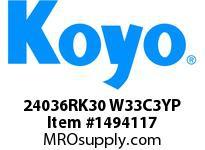 Koyo Bearing 24036RK30 W33C3YP BRASS CAGE-SPHERICAL BEARING