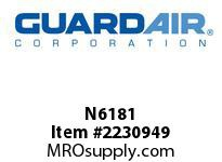 "Nordair N6181 1/2"" NPT - 1/2"" Hose Barb Coupler"