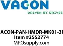 Vacon VACON-PAN-HMDR-MK01-3M Vacon 100 door mounting kit with 3m cable. New version! Option