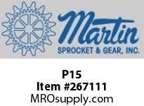 Martin Sprocket P15 PUNCHSOLID5/32