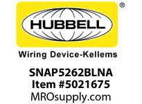 HBL_WDK SNAP5262BLNA SNAP2CONNECT DPLX 15A/125V US BL