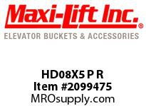 Maxi-Lift HD08X5 P R HD-MAX STANDARD POLYETHYLENE ELEVATOR BUCKET