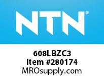 NTN 608LBZC3 EXTRA SMALL BALL BRG