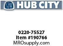 HUBCITY 0220-75527 SS212 5/1 A WR 1.000 SS WORM GEAR DRIVE