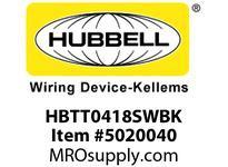 HBL_WDK HBTT0418SWBK WBPRFRM RADI T 4Hx18W BLACKSTLWLL