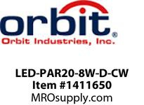 Orbit LED-PAR20-8W-D-CW LED PAR20 8W 120V DIMMABLE 5000K COOL WHITE