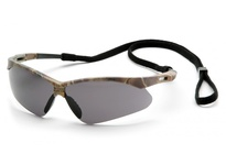 Pyramex SCM6320STP Camo Frame/Gray Anti-Fog Lens with Black Cord