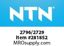 NTN 2796/2729 SMALL SIZE TAPERED ROLLER BRG