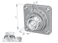 INA RCJ17/16 Four-bolt flanged unit