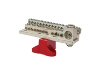 NSI 2030MB 225A STACKED NEUTRAL BAR 4-14 AWG 26 CIRCUITS 1/0-14 AWG 4 CIRCUITS & 350 MCM - 6 AWG MAIN LUG WITH MTG BASE