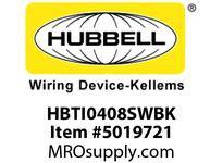 HBL_WDK HBTI0408SWBK WBPRFRM RADI INTER 4Hx8W BLACKSTLWLL