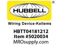 HBL_WDK HBTT04181212 WBPREFORM RADI T 4^Hx18^Wx12^Wx12^W