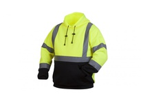 Pyramex RSSH3210X4 Hi-Vis Lime Pullover Sweatshirt with Black Bottom- Size 4X Large