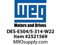 WEG DES-E504/5-314-W22 DRIVE END SHIELD 504/5 W22 Motores