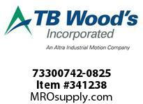 TBWOODS 73300742-0825 73300742-0825 AX40 M-FF CPLG