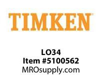 TIMKEN LO34 SRB Plummer Block Component
