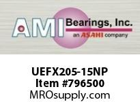AMI UEFX205-15NP 15/16 WIDE ACCU-LOC NICKEL 2-BOLT F SINGLE ROW BALL BEARING