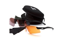 Pyramex VGSB88KIT DROPZONE DROPZONE Kit - Four Interchangeable Lenses (Clear Orange Vermillion Forest Gray) Crush Resistant Case Microfiber Cleaning Cloth. Drop Zone Kit exceeds ANSI Z87.1 CE EN166 Certified MIL-PRF32432