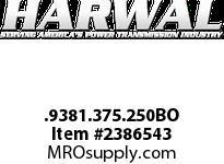Harwal .9381.375.250BO .938 x 1.375 x .250BO NBR