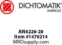 Dichtomatik AN6226-28 NU70R SYMMETRICAL SEAL AN6226 SERIES NITRILE 70 DURO SYMMETRICAL U-CUP INCH