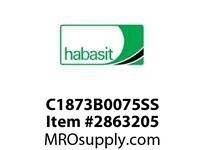 Habasit C1873B0075SS 963/1873/1874 Base Chain Stainless Steel