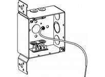 Orbit 4SDB-MC-FB-PT 4^ SQ. DEEP BOX 2-1/8^ DEEP MC CLAMPS FB BRAC. W/ PIGTAIL
