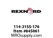 REXNORD 114-3155-176 ATCH WHT8500 F.25 N1.5 TP
