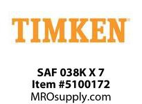 TIMKEN SAF 038K X 7 SRB Pillow Block Housing Only