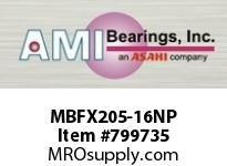 AMI MBFX205-16NP 1 STAINLESS NAR SET SCREW NICKEL 2- SINGLE ROW BALL BEARING