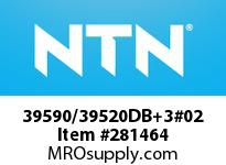 NTN 39590/39520DB+3#02 MEDIUM SIZE TAPERED ROLLER BRG