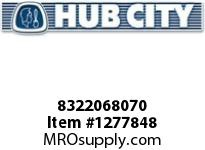 HubCity 8322068070 CONE BEARING 12175 OR EQ