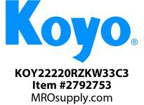 Koyo Bearing 22220RZKW33C3 SPHERICAL ROLLER BEARING