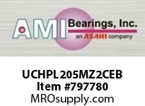 AMI UCHPL205MZ2CEB 25MM ZINC WIDE SET SCREW BLACK HANG COVERS SINGLE ROW BALL BEARING