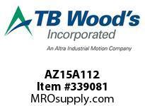 TBWOODS AZ15A112 AZ15-AX1 1/2 FF COUP HUB