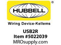 HBL_WDK USB2R USB CHRGR 2 PORT 3A 5 V RED