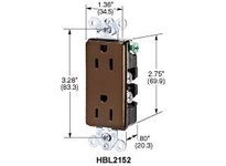HBL-WDK HBL2162WA STYLE DUP RCPT 20A 125V 5-20R WH