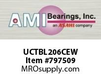 AMI UCTBL206CEW 30MM WIDE SET SCREW WHITE TB PLW BL ROW BALL BEARING