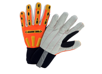 West Chester 86800/M R2 Corded Palm - Cotton corded palm for excellent grip on oily conditions. Extended Kevlar reinforced thumb saddle and heavy duty TPR knuckle and back of hand protection. EN388: X131