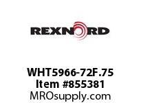 REXNORD WHT5966-72F.75 WHT5966-72 F.75 T10P WHT5966 72 INCH WIDE MATTOP CHAIN W