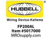 HBL_WDK FP200AL 2^ FF PLUG ALUMINUM