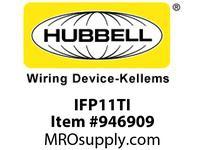 HBL-WDK IFP11TI PLATE WALLFLUSH1-G1PORTTI