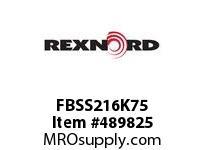 FBSS216K75 FLANG BLK FB-SS216K75 171035