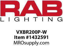 RAB VXBR200P-W VAPORPROOF 200 WALL BRK 4 BOX 1/2 WHITE WITH PERMA GLOBE