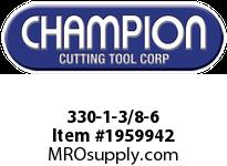 Champion 330-1-3/8-6 CARBON STEEL HEX DIES