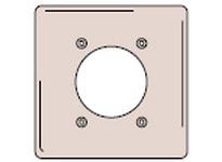 HBL-WDK SS703 WALLPLATE 2-G 2.15 4 BOLT SS
