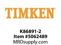 TIMKEN K86891-2 Locknut, Screw, Pin, Nut, or Bolt