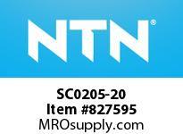 NTN SC0205-20 Bearing Units - Cast Covers