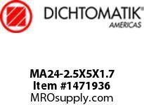 Dichtomatik MA24-2.5X5X1.7 ROD SEAL NITRILE 90 DURO ROD SEAL METRIC
